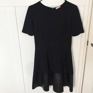 Juniors black short sleeve formal dress